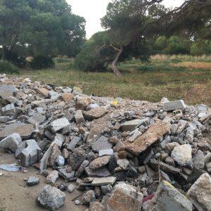 IU rechaza la utilización de monte público como escombrera