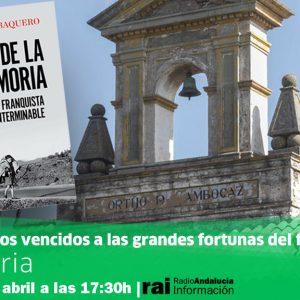 """""""La Memoria"""" entrevista al periodista Juan Miguel Baquero para hablar de su nuevo libro"""