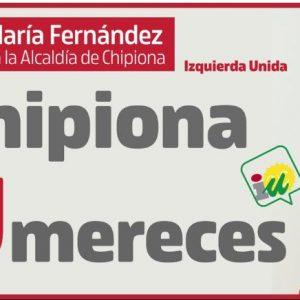 Isabel María Fernández convencida de que la candidatura de Izquierda Unida es la que Chipiona necesita