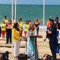 Presentada Rosa Benito como Madrina de las playas de Chipiona en el acto inaugural de la temporada alta
