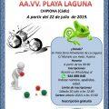 El 22 de julio arranca el segundo Campeonato de Petanca de la Asociación de vecinos Playa Laguna