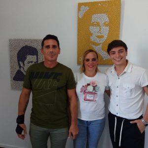 'Arteterapia', las creaciones en familia de Jaime Rodríguez, Cristina Hall y Diego Hall se muestras en el Castillo