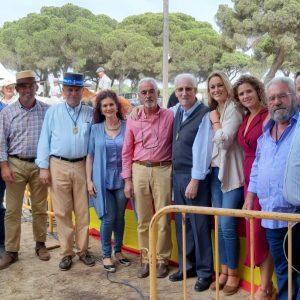 Antonio Dorantes agradecido y emocionado por el homenaje que le rindió la Hermandad del Pinar ayer en la celebración de la Fiesta de la Palmicha