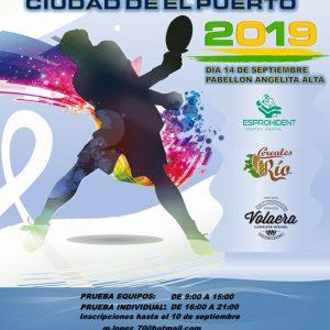 El XXXIII Trofeo Ciudad de El Puerto de Tenis de Mesa se celebrará en el Pabellón de la Angelita alta el próximo sábado día 14 de Septiembre