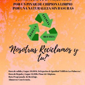 Igualdad conmemorará el Día de la Mujer Rural con una ruta programada de reciclaje y una convivencia en el pinar