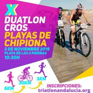 Abierto el plazo de inscripciones para la X edición del Duatlón Cross Playas de Chipiona que se celebrará el 3 de noviembre