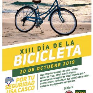 El próximo domingo 20 de octubre se celebra la XIII edición del Día de la Bicicleta