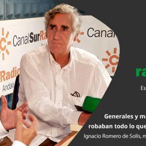 Rafael Guerrero entrevista al escritor Ignacio Romero de Solís, este lunes en «La Memoria»