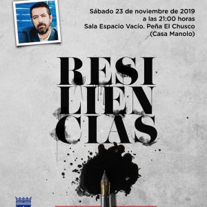 El chipionero Manuel Monge Lorenzo presentará el 23 de noviembre 'Resiliencias. Del golpe al verso' su segundo libro de poemas
