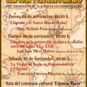 Mañana comienza el ciclo de conferencias 'Chipiona, encuentros con el Nuevo Mundo'