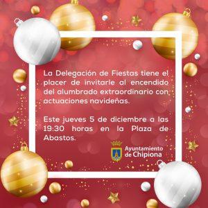 El alumbrado navideño de Chipiona y el Belén Municipal se inauguran en la tarde noche de mañana jueves