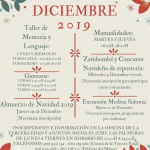 Políticas del Mayor presenta su oferta de actividades para diciembre