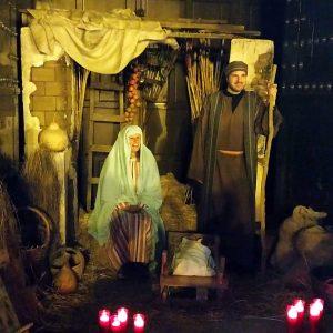 La novena edición del Belén Viviente recreó seis escenas bíblicas y contó con la participación de unos 50 figurantes