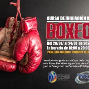 Deportes y Juventud organizan un curso gratuito de iniciación al boxeo