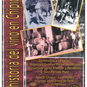 El historiador y concejal Sebastián Guzmán ofrecerá el 17 de enero una conferencia sobre la historia del vino en Chipiona