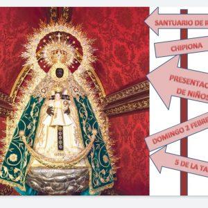 El Santuario de Regla celebra este domingo la Candelaria con la presentación de los niños a la patrona de Chipiona