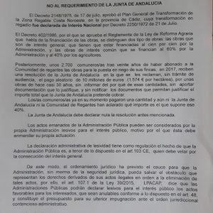 La plataforma de regantes afectados inicia una recogida de firmas para mostrar el  rechazo al requerimiento de la Junta del cobro de 10 millones de euros