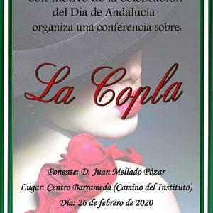 Una conferencia de Juan Mellado sobre la Copla celebra el día de Andalucía el miércoles en el Centro de Educación de Adultos Mardeleva de Sanlúcar