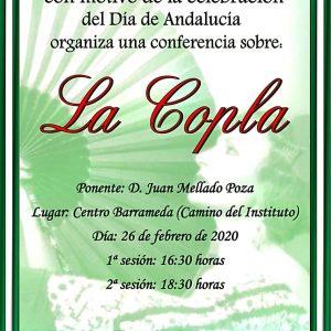 Una conferencia  de Juan Mellado sobre la Copla celebra el día de Andalucía el miércoles 26 en el Centro de Educación de Adultos Mardeleva de Sanlúcar