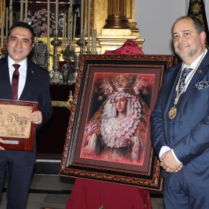 El pintor Antonio Montiel retrata a la Virgen de La Estrella de Málaga