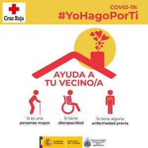 #YoHagoPorTi, una campaña con 10 conductas para ayudar a vecinos y vecinas mayores o con discapacidad
