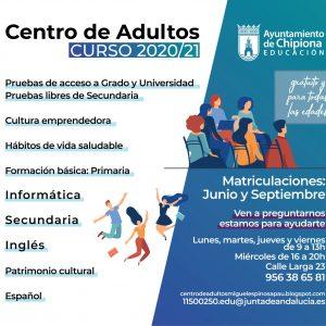 El Centro de Adultos abre un plazo de información sobre solicitud y matrícula para el próximo curso