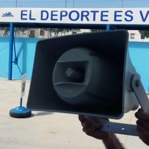 El complejo polideportivo municipal de Chipiona estrena  sistema de megafonía centralizado