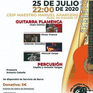 La guitarra flamenca protagonista este sábado en Chipiona con una cita que se pretende sea fija cada verano