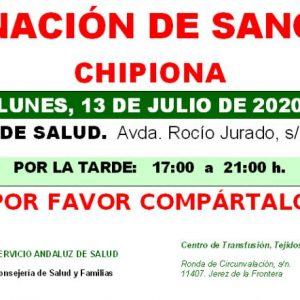 Llamamiento del Centro de Transfusión, Tejidos y Células de Cádiz para una donación colectiva de sangre el próximo lunes en Chipiona