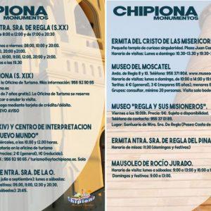 Turismo de Chipiona edita folletos con información sobre las visitas a los monumentos y edificios más emblemáticos