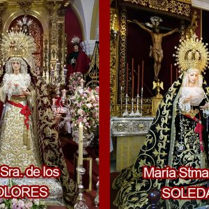 Días de veneración en Chipiona a Nuestra Señora de los Dolores y María Santísima de la Soledad