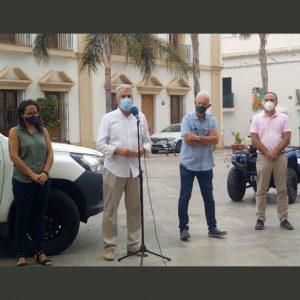 La Junta dota con dos vehículos  a Protección Civil de Chipiona dentro de las medidas contra el covid-19