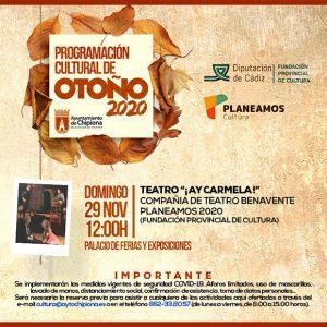 Diputación y la Delegación de Cultura proponen disfrutar el próximo domingo del teatro con la compañía Benavente y la obra ¡Ay Carmela!