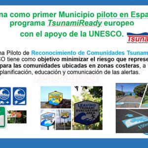 Esta tarde tendrá lugar la presentación del plan de actuación ante el riesgo de maremotos en Chipiona, Plan TsunamiReady