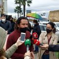 Alcaldes y cargos públicos de IU Cádiz entregan un escrito en Subdelegación por la intervención de España en el conflicto del Sáhara