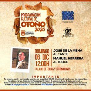 El Otoño Cultural chipionero concluye el próximo domingo con un recital del cantaor flamenco José de la Mena