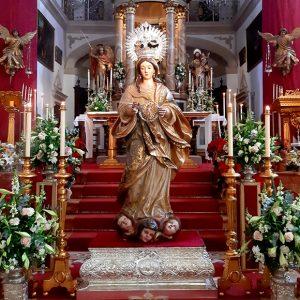 La Virgen de la O de la parroquia de Chipiona será restaurada de forma inminente con una subvención de la Junta de Andalucía