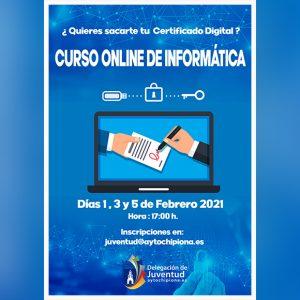 Juventud pone en marcha un curso online de informática para la obtención del certificado digital