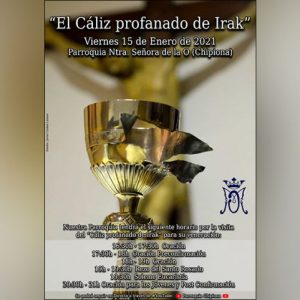 'El Cáliz profanado de Irak' estará el viernes en la parroquia de Chipiona y el Santuario de Regla para su veneración
