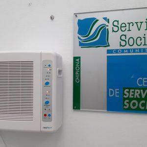 El Ayuntamiento de Chipiona instala purificadores de aire en los edificios públicos con más tránsito