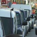 Varios centenares de vehículos partieron de Chipiona en apoyo del sector primario, el transporte y los autónomos