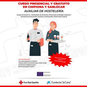Cruz Roja impartirá un curso gratuito de Auxiliar de Hostelería en Chipiona y Sanlúcar