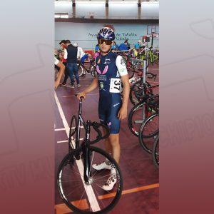 El ciclista chipionero Manuel Rodríguez se sitúa en estos momentos tercero en la general de la Liga Nacional Cadete de Ciclismo