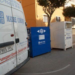 La ONG Madre Coraje recogió en Chipiona de enero a marzo de 2021 5.360 kilos de ropa y 1.000 litros de aceite usado