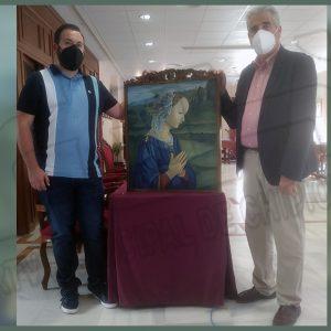El artista Christian Castro dona al Ayuntamiento de Chipiona una obra para la capilla del Cementerio municipal 'San José'