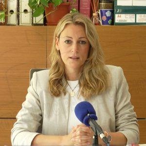 María Naval muestra su satisfacción por la bajada de los índices de los módulos de los agricultores del 0,32 al 0,06