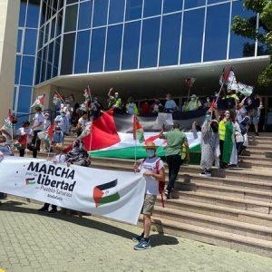 Marcha por la Libertad del Pueblo Saharaui.  Etapa 1. Cádiz-UCA- Puerto Real  20 de Mayo
