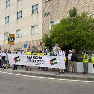 Marcha por la Libertad del Pueblo Saharaui.  Etapa 4. Jerez- Trebujena  23 de mayo.