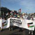 Marcha por la Libertad del Pueblo Saharaui.  Etapa 5. Trebujena- Lebrija  24 de Mayo