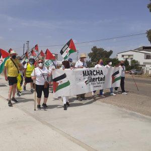 Marcha por la Libertad del Pueblo Saharaui.  Etapa 12.  Écija- La Carlota 31 de Mayo